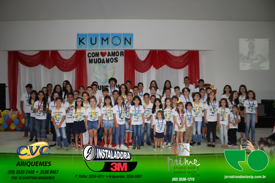 Medalhistas do KUMON Expo 2018